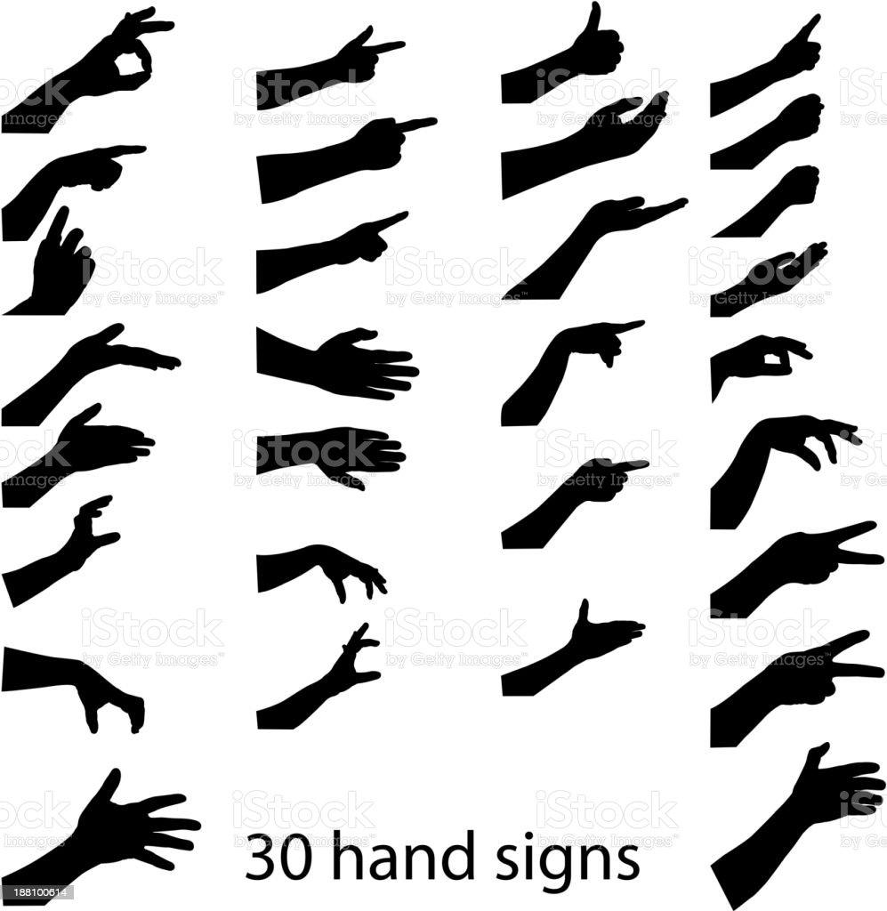 hands sign vector art illustration
