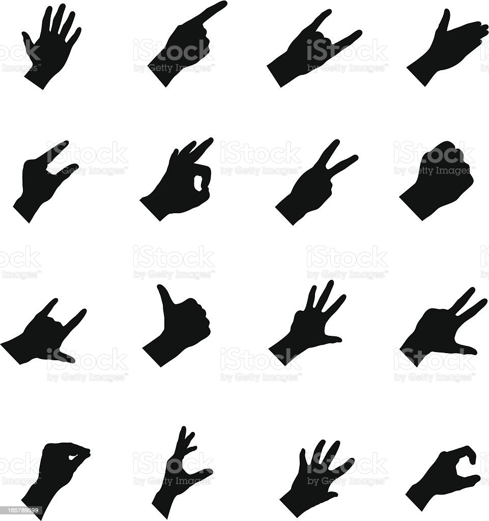 Hands Silhouette royalty-free stock vector art