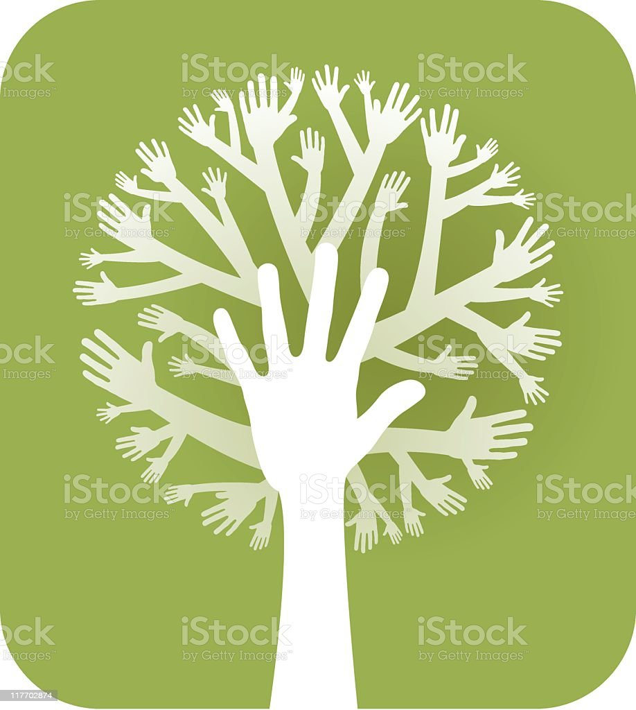 hands tree royalty-free stock vector art