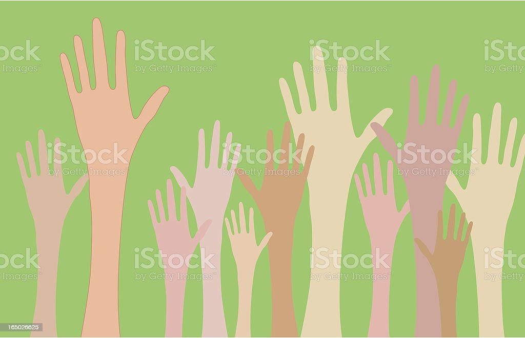 Hands Up royalty-free stock vector art