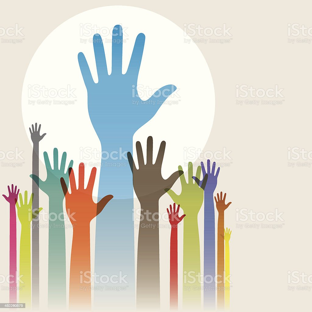 Hands up! royalty-free stock vector art