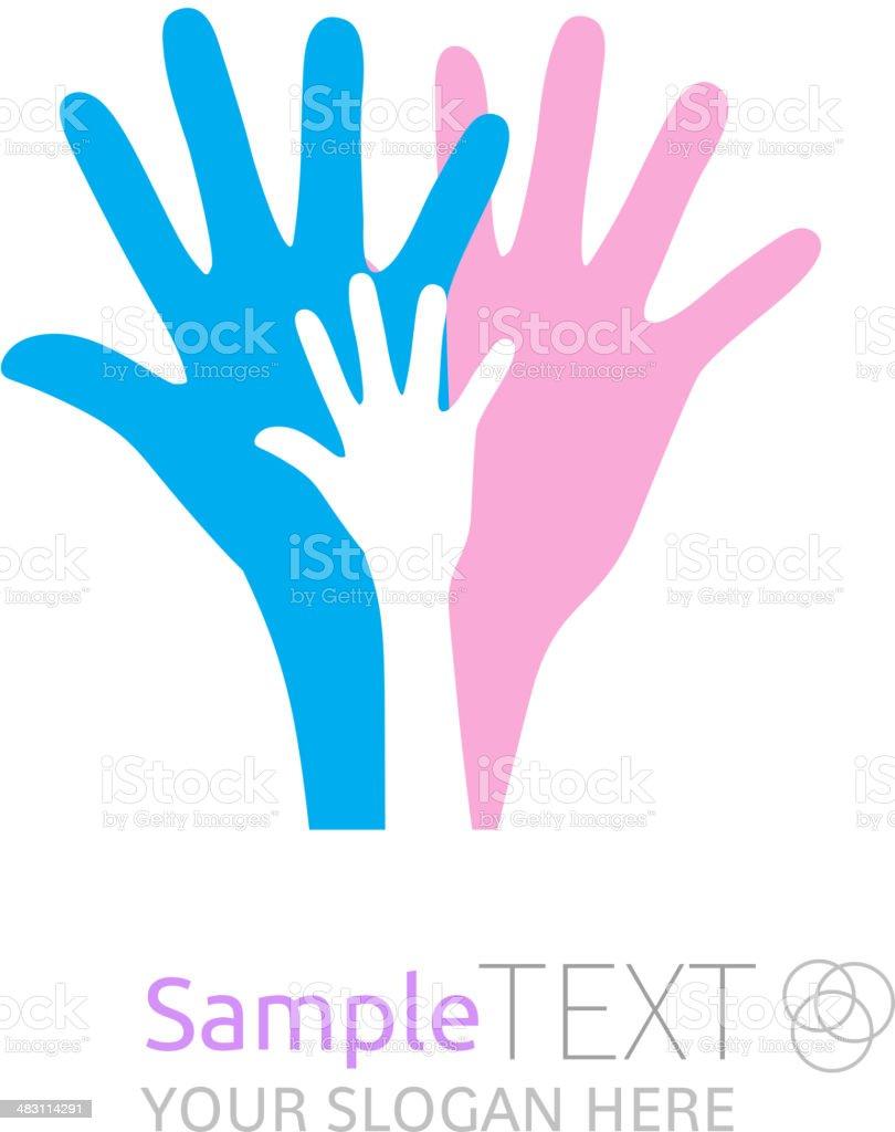 Hands. vector art illustration