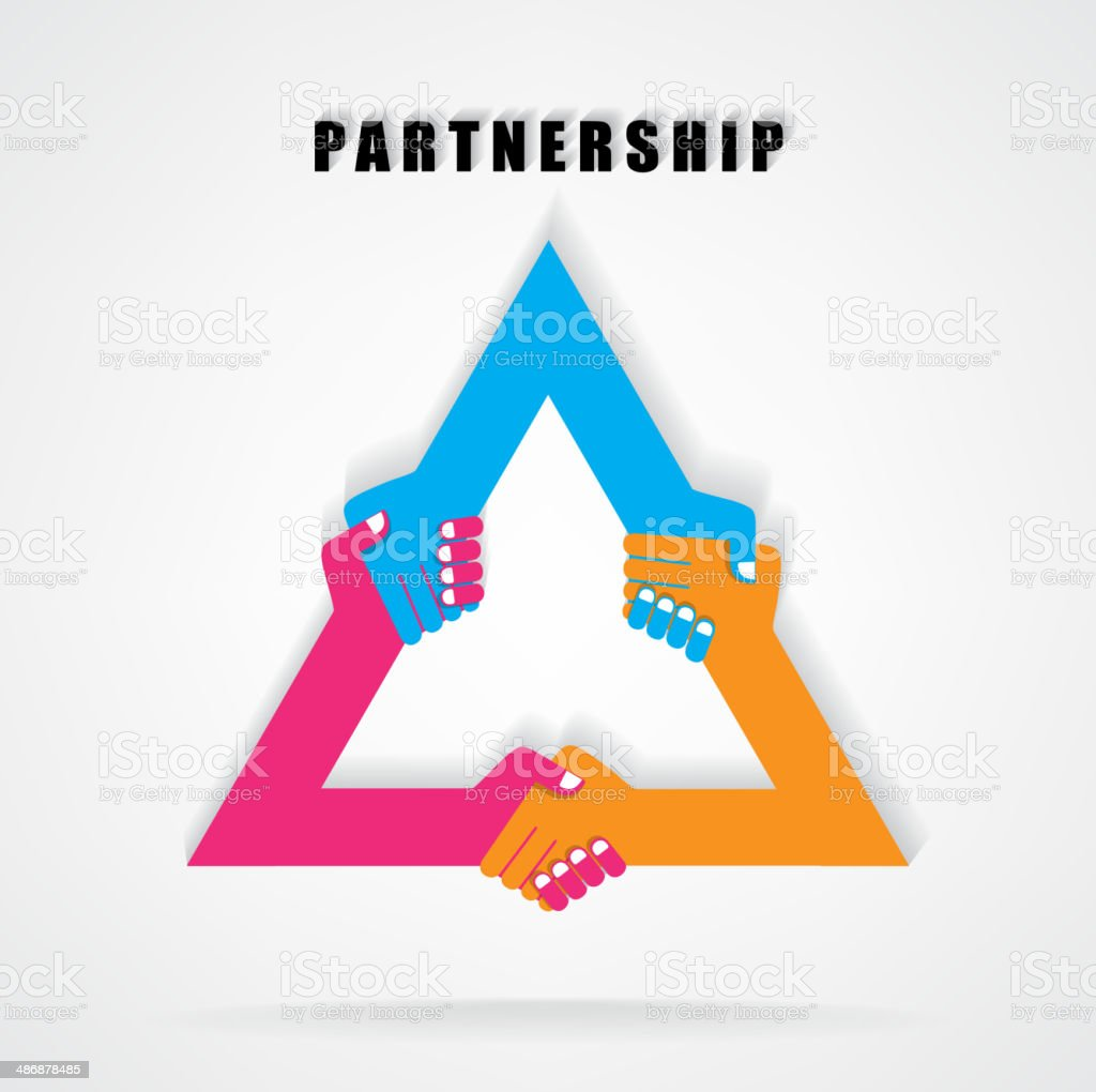 Handshake abstract sign vector design template. royalty-free stock vector art