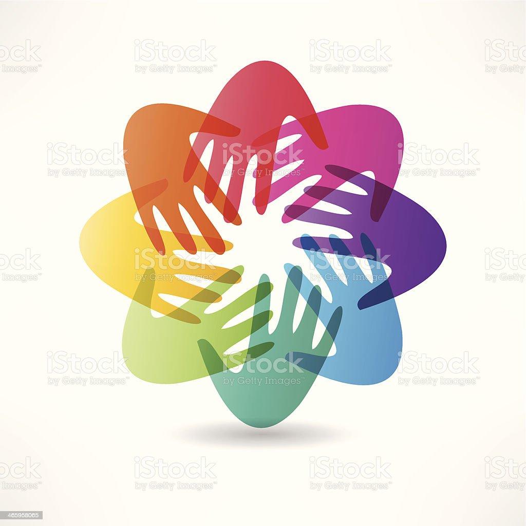 handshake and friendship icon vector art illustration