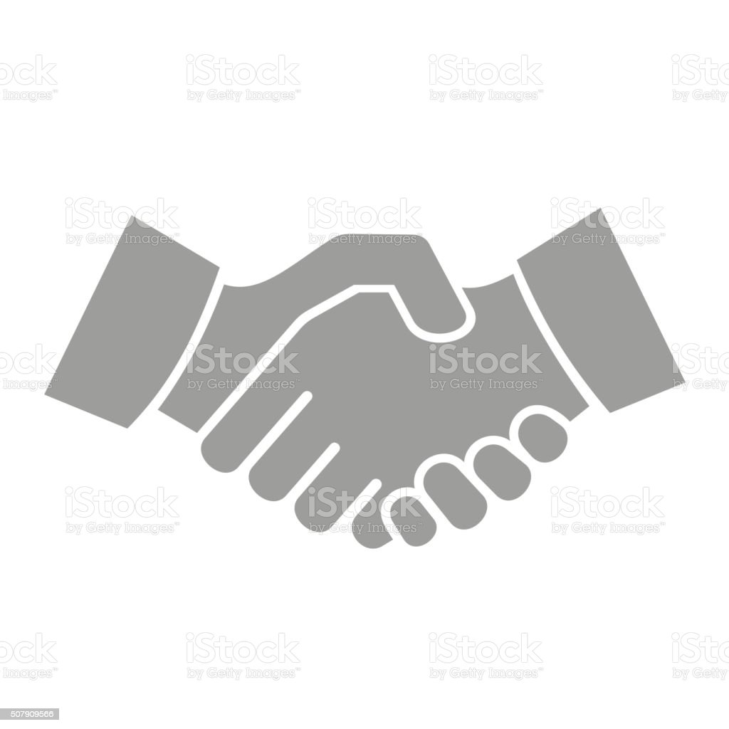 Handshake Icon on White Background. Vector vector art illustration