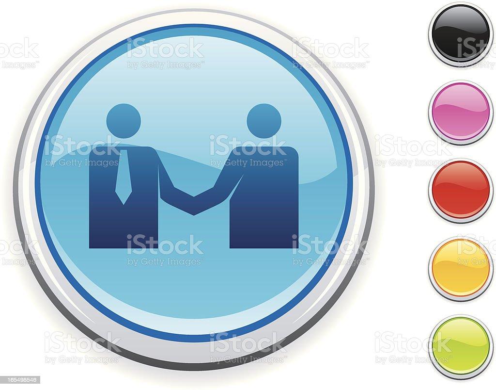 Handshake icon royalty-free stock vector art