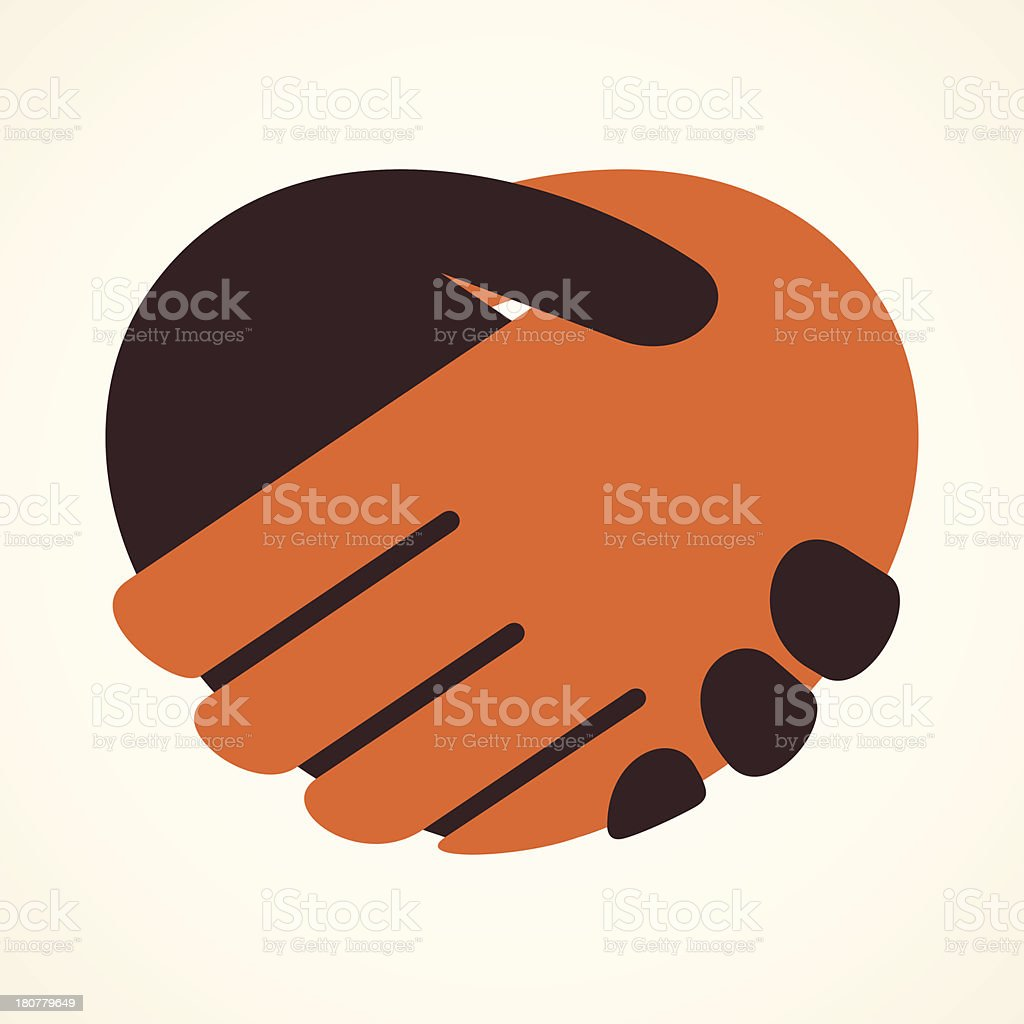handshake icon vector art illustration