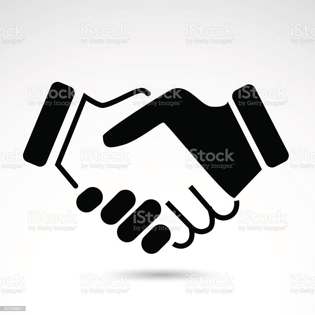 Handshake icon. vector art illustration