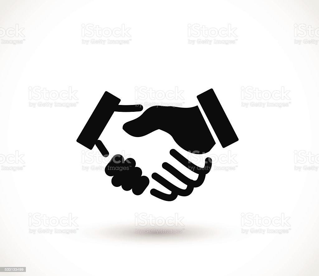 Handshake icon vector illustration vector art illustration