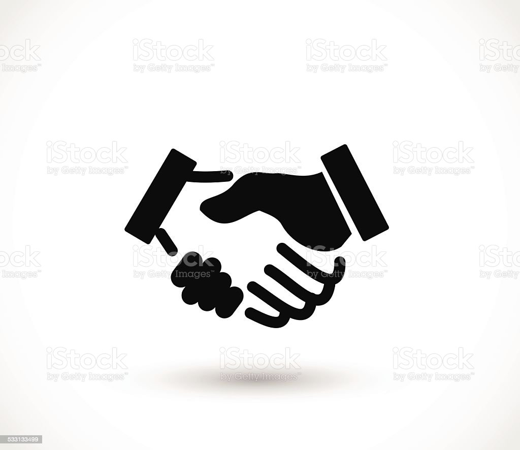 Handshake icon vector illustration vector art illustration