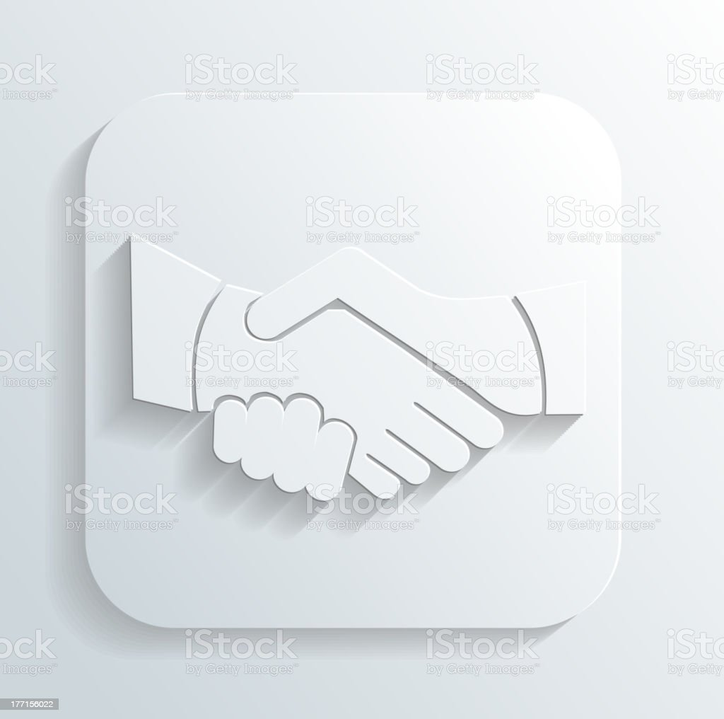 handshake icon vector royalty-free stock vector art