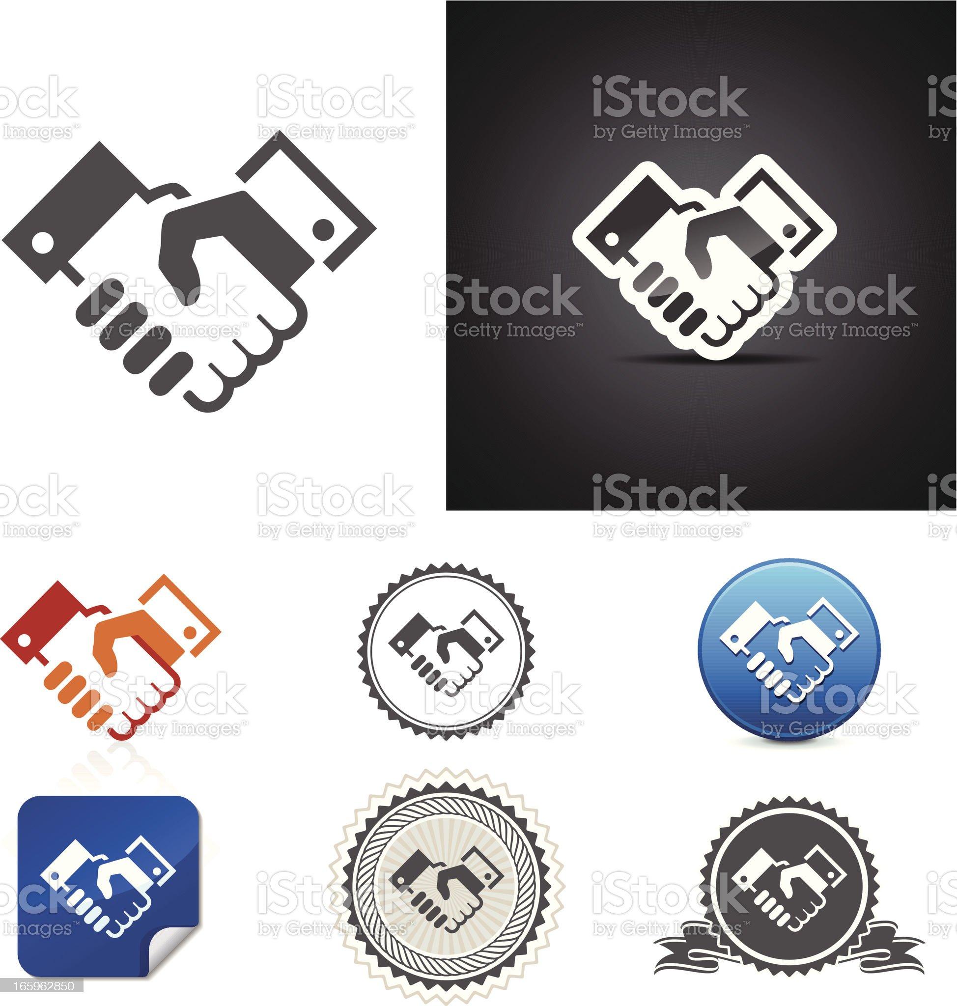 Handshake icons royalty-free stock vector art