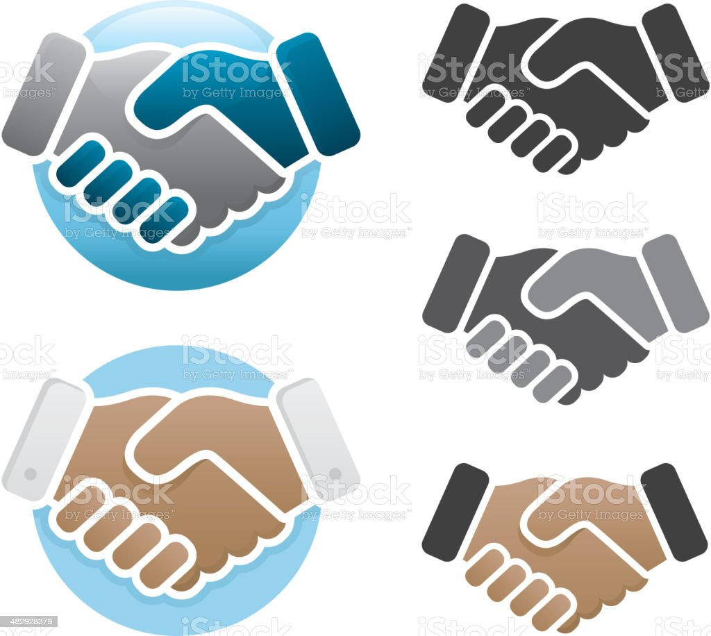 Handshake icons vector art illustration