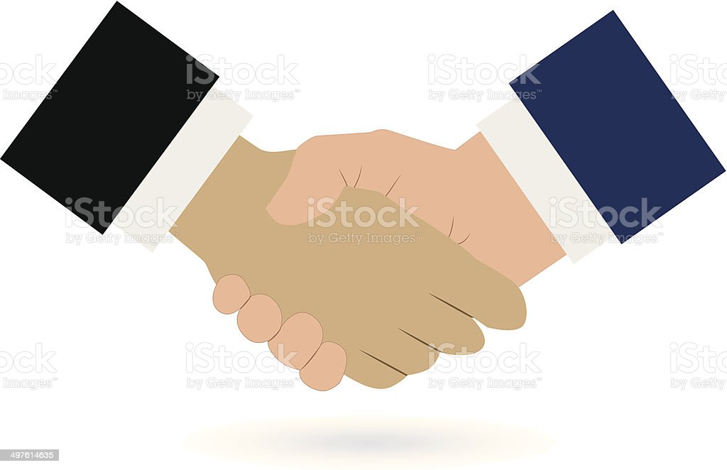Handshake illustration royalty-free stock vector art