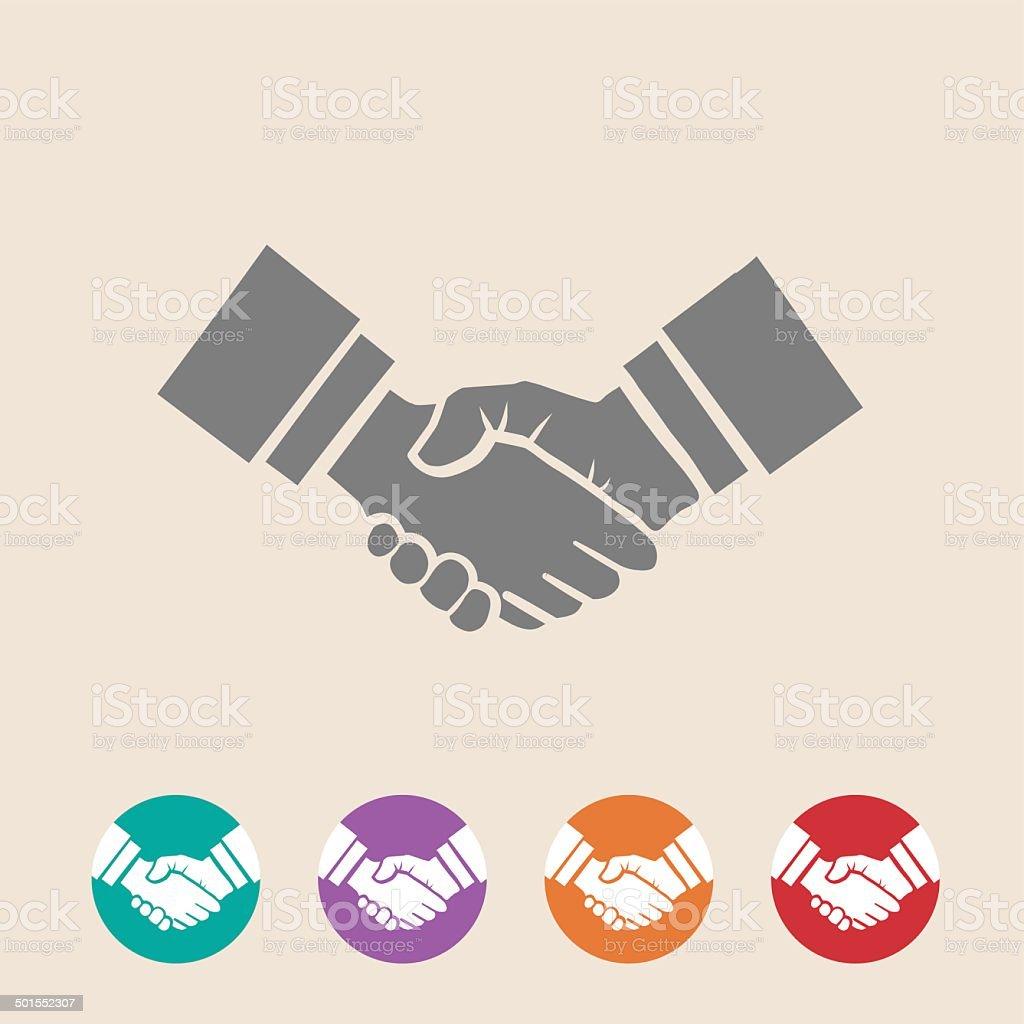 Handshake illustration vector art illustration