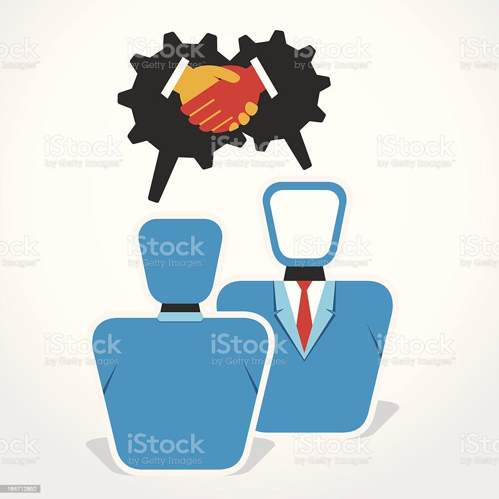 handshake or deal royalty-free stock vector art