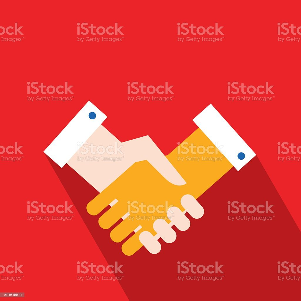 Handshake. Partnership, successful business concept vector art illustration