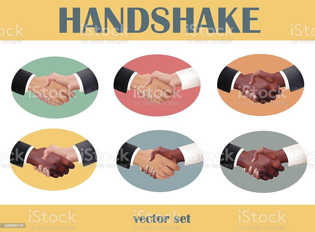 Handshake set royalty-free stock vector art