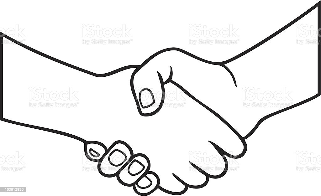 handshake symbol royalty-free stock vector art