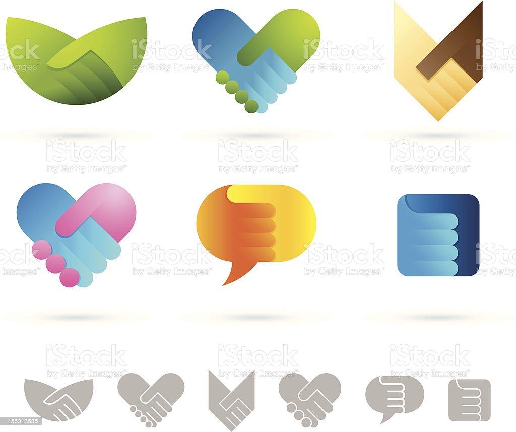 Handshake symbols vector art illustration
