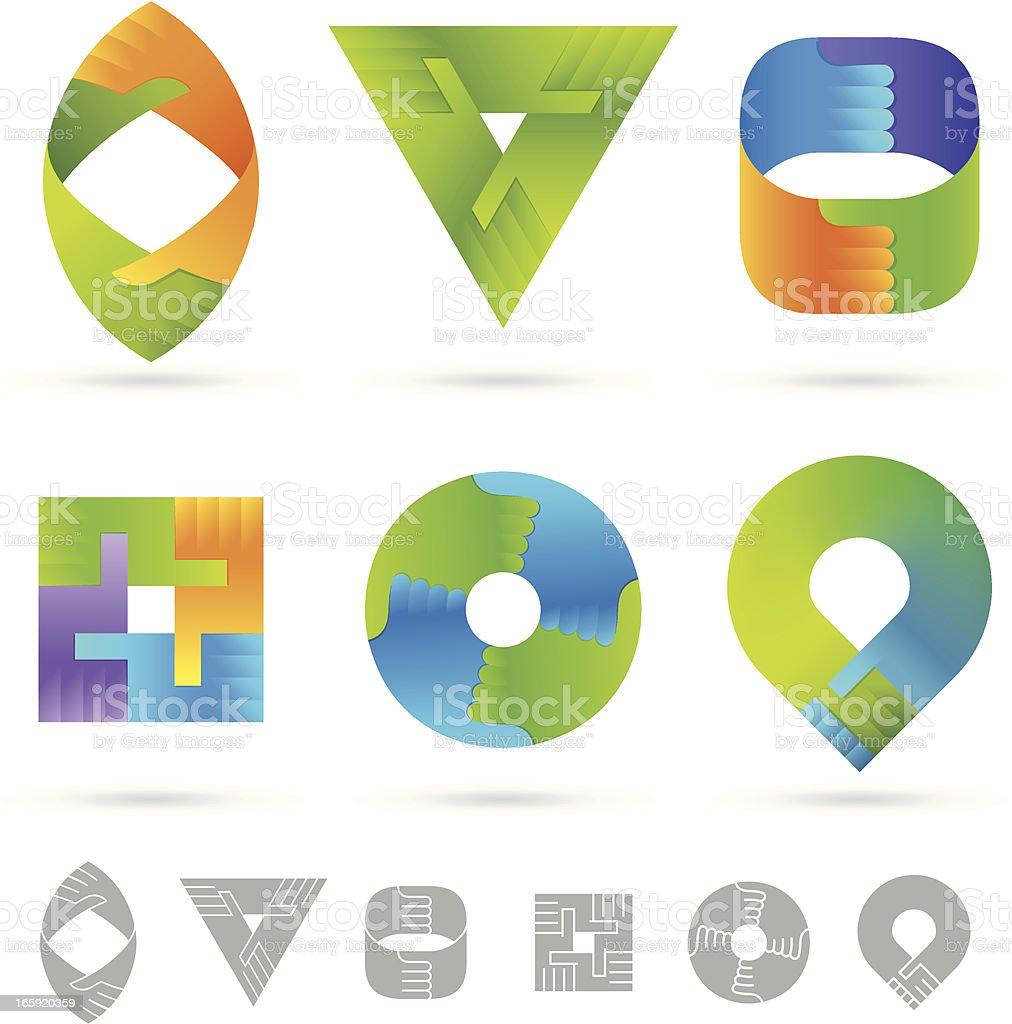 Handshake | vector design element royalty-free stock vector art
