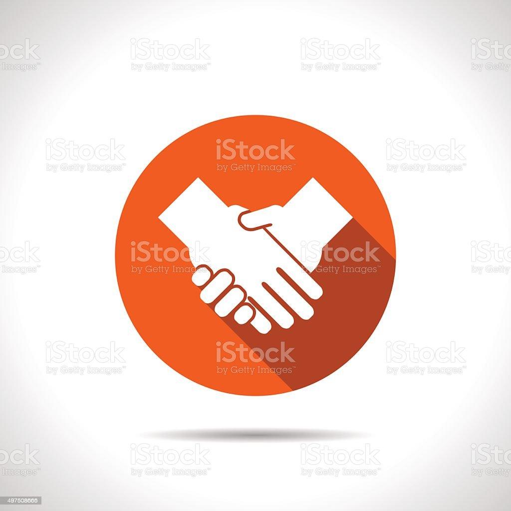 handshake vector flat icon vector art illustration