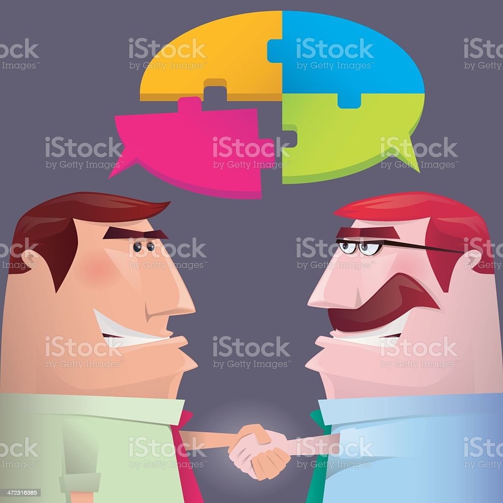 handshake royalty-free stock vector art