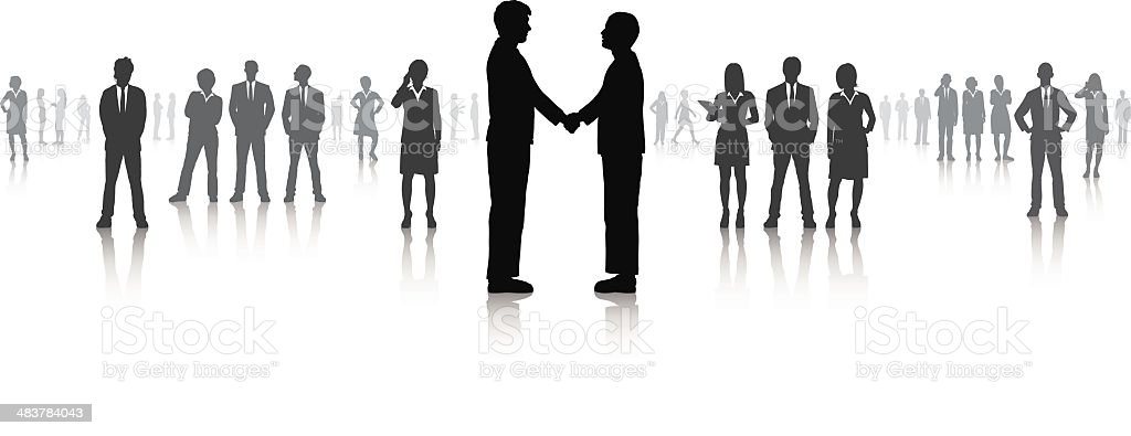 Handshake (All People Are Detailed) royalty-free stock vector art