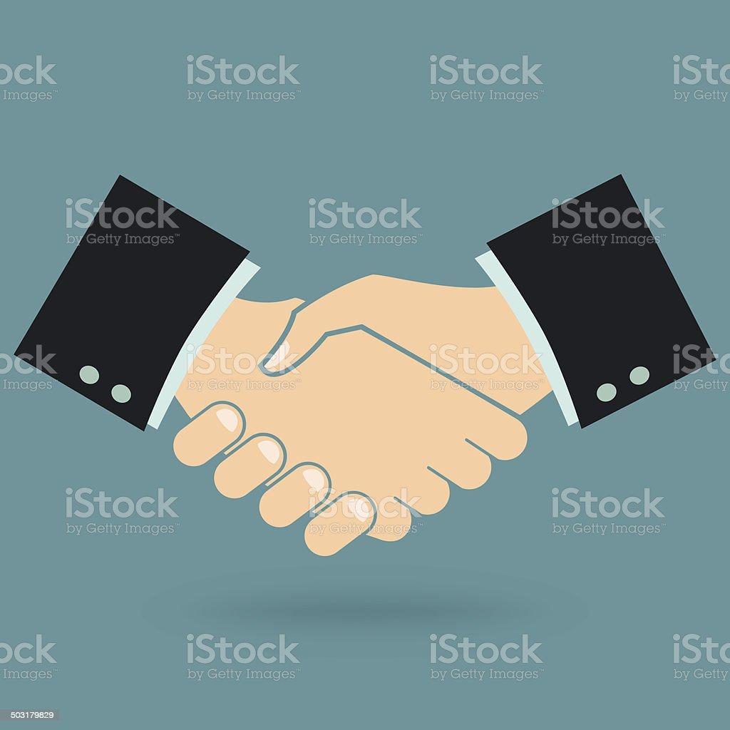 Handshake vector art illustration