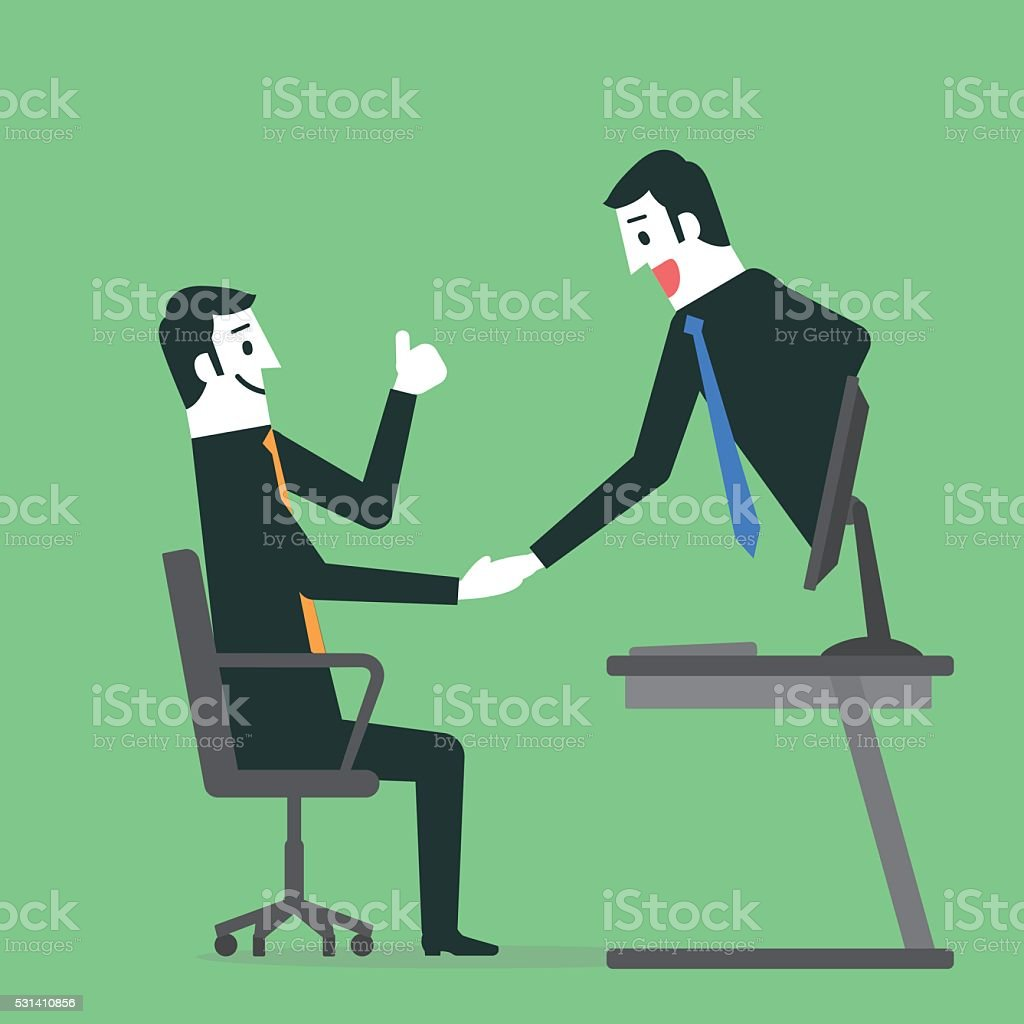 Handshake vector art illustration