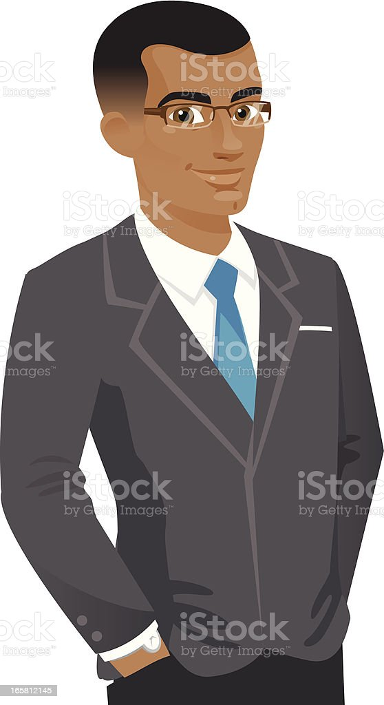 Handsome Business Man in Suit royalty-free stock vector art
