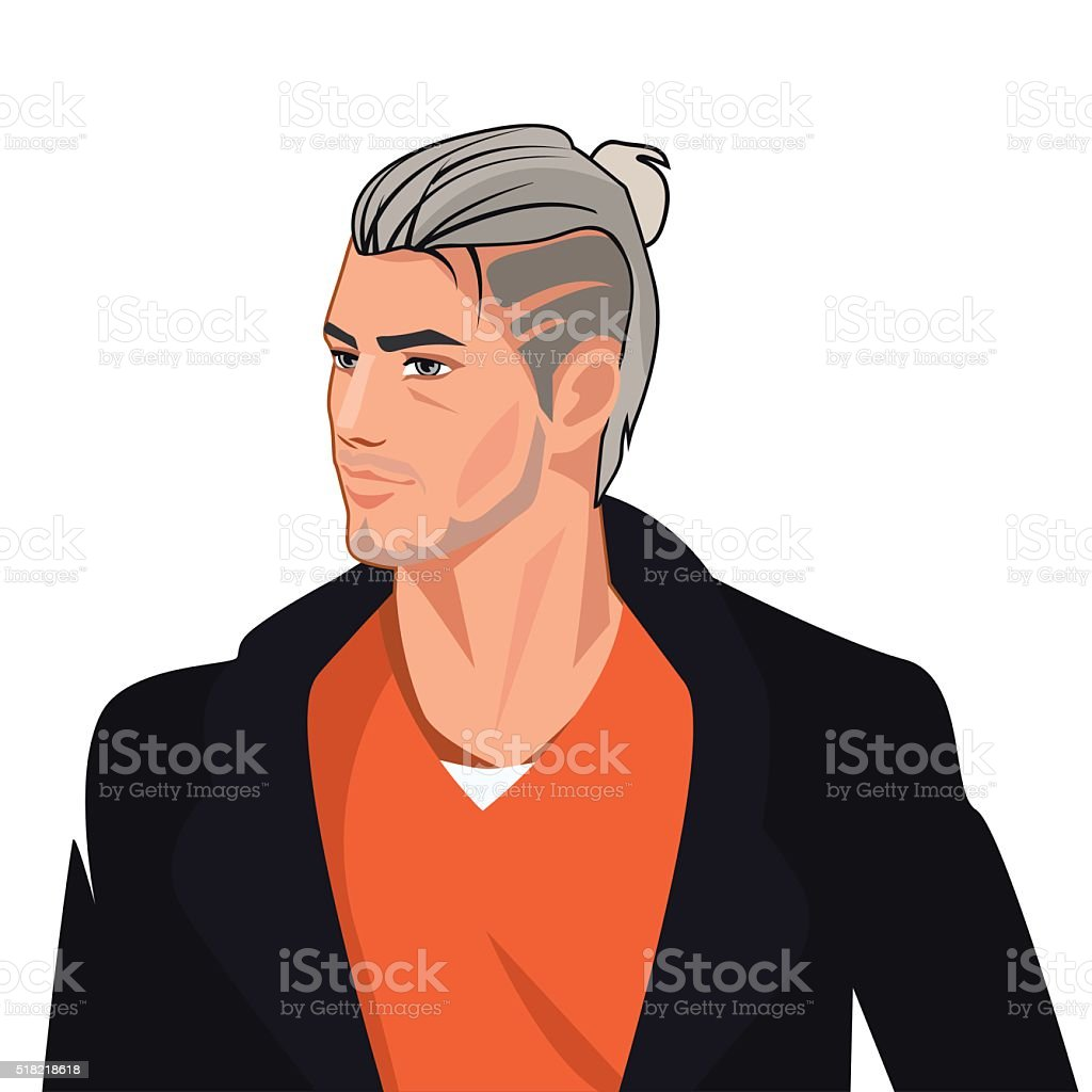 Handsome Man Comics Character, Vector Illustration vector art illustration