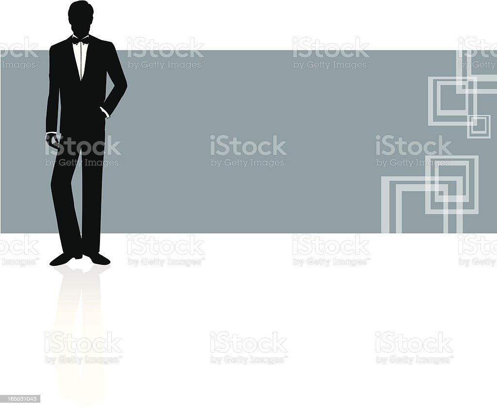 Handsome Man vector art illustration