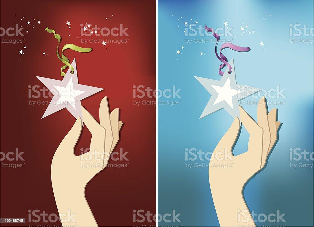 handstar vector art illustration