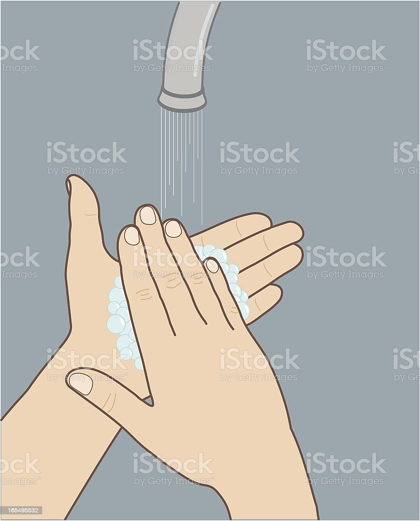 Hand-Washing vector art illustration