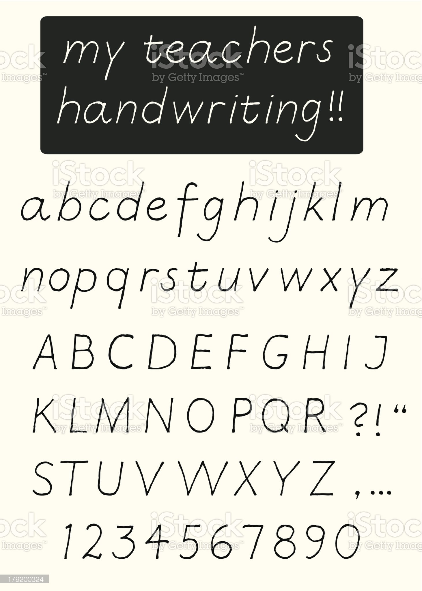 Handwriting alphabet royalty-free stock vector art