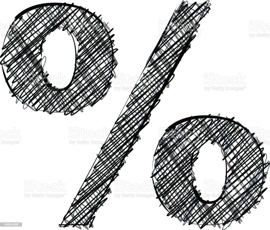 Handwriting symbol royalty-free stock vector art
