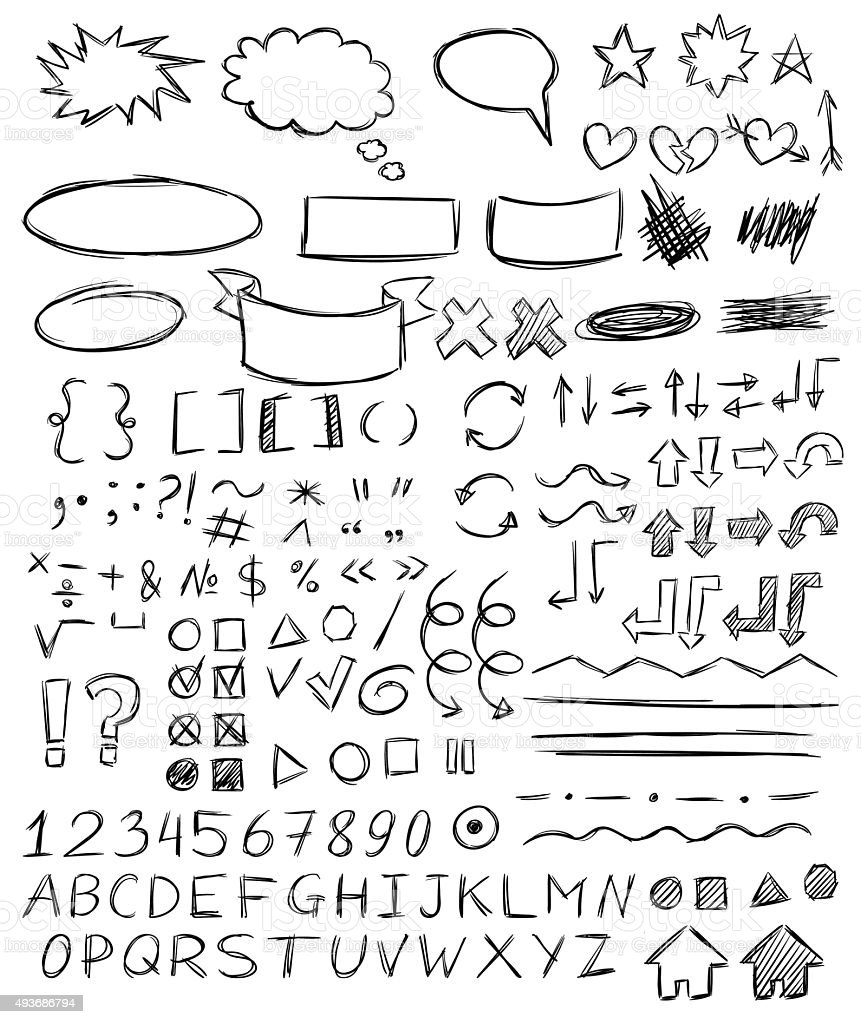 Handwriting vector art illustration
