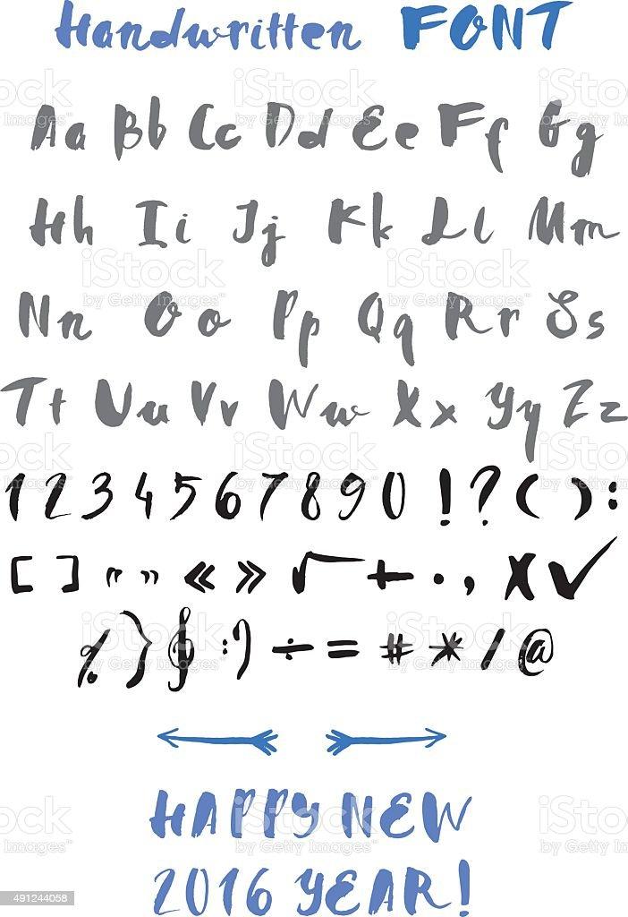 Handwritten alphabet vector art illustration