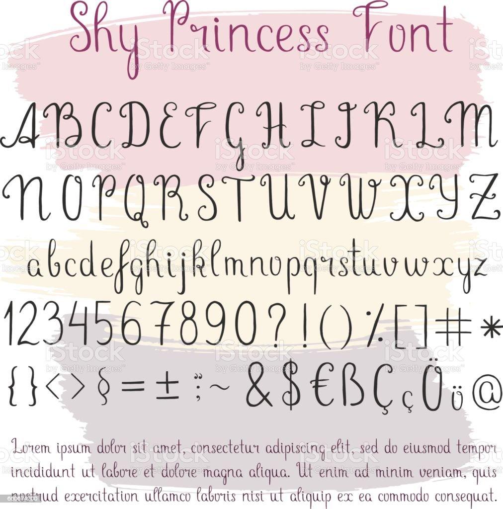 Handwritten vector alphabet vector art illustration