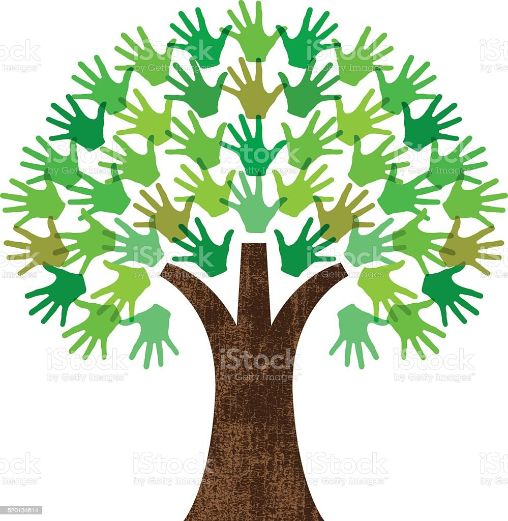 Handy graphic tree vector art illustration