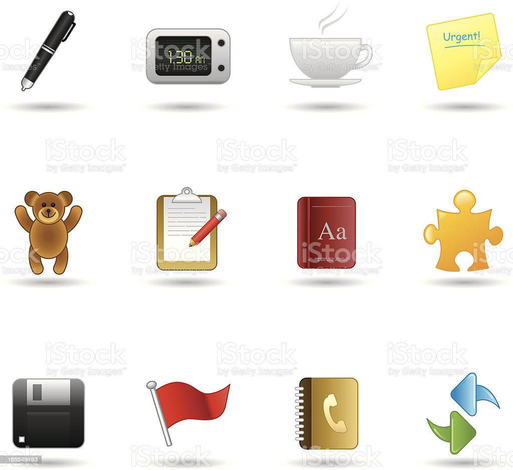 Handy Icons - Office royalty-free stock vector art