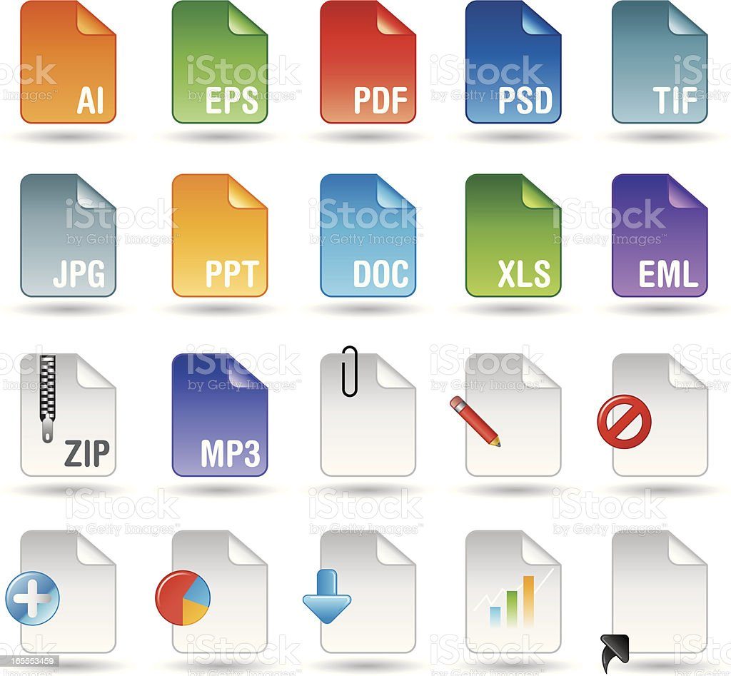 Handy Series Icons - Applications royalty-free stock vector art