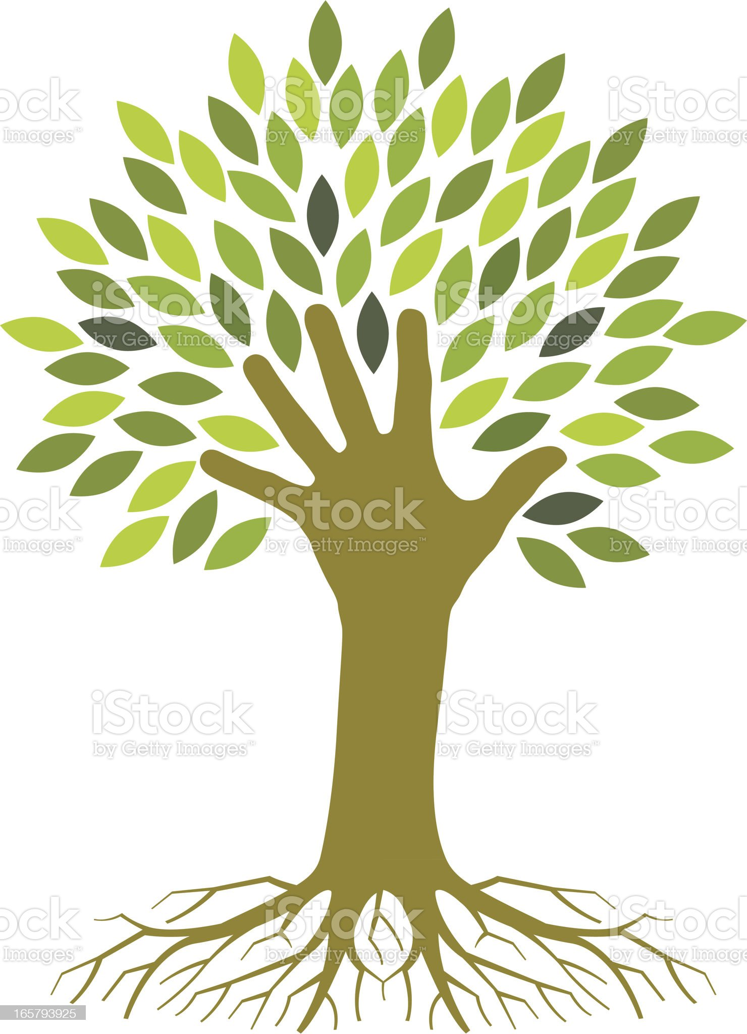 Handy tree royalty-free stock vector art