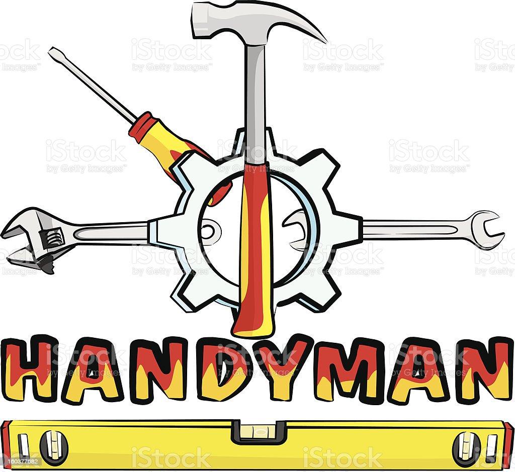 handyman - tools royalty-free stock vector art
