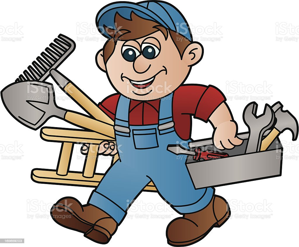 Handyman royalty-free stock vector art