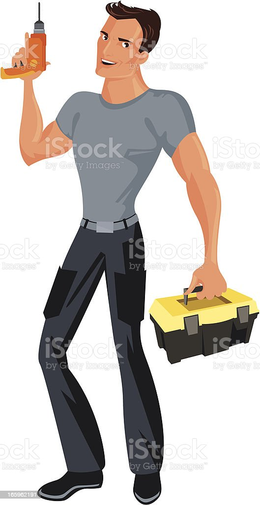 Handyman. royalty-free stock vector art