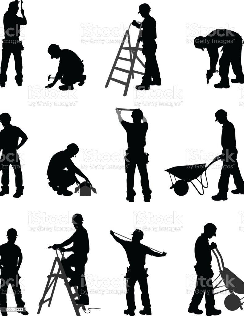 Handyman vector art illustration