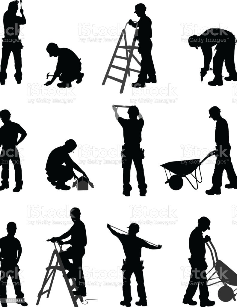 Handyman vector art illustration