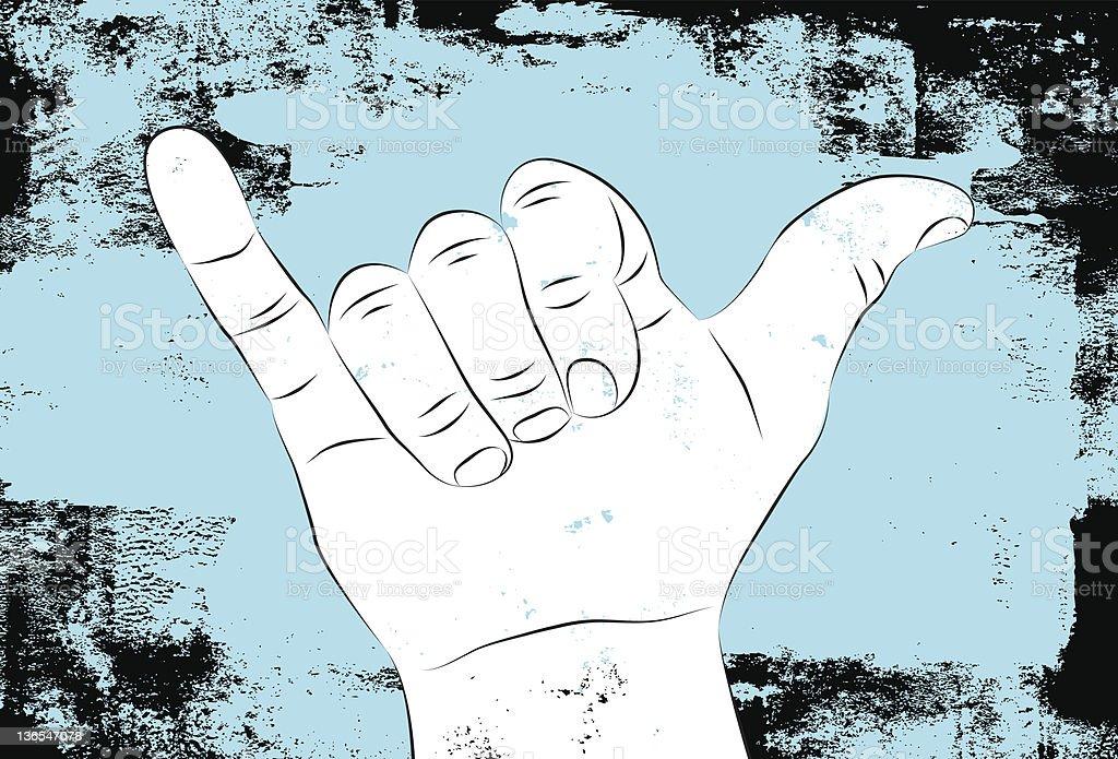 hang loose hand sign royalty-free stock vector art